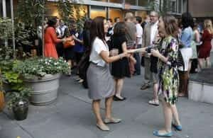 two women meeting at a previous AMA New York event